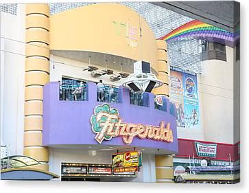 Las Vegas - Fremont Street Experience - 12122 Canvas Print by DC Photographer