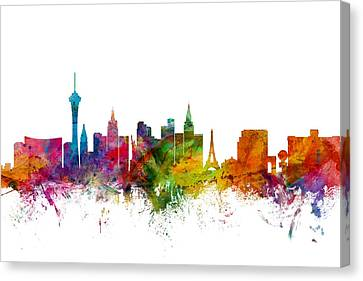 Las Vegas Nevada Skyline Canvas Print by Michael Tompsett