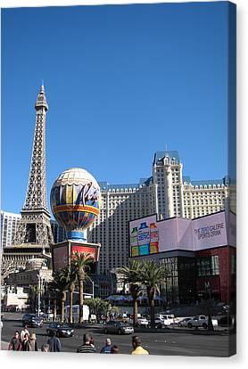 Las Vegas - Paris Casino - 12128 Canvas Print by DC Photographer