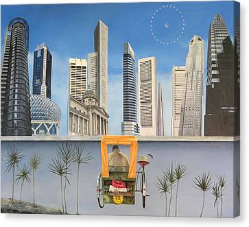 Last Dim Sum In Singapore Canvas Print by Richard Barone