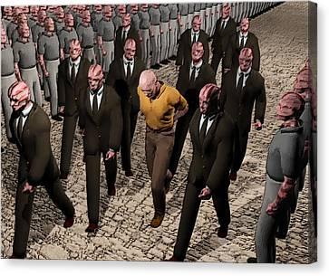 Last March Of The Non Conformist Canvas Print by John Alexander