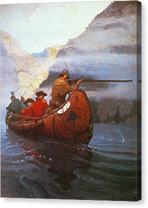 Colonial Man Canvas Print - Last Of The Mohicans, 1919 by Granger