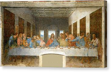 Last Supper Canvas Print by Leonardo Da Vinci