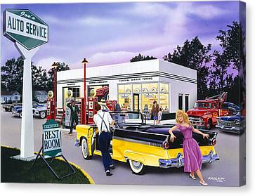 Late For The Prom Canvas Print by Bruce Kaiser