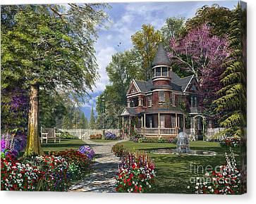 Late Summer Garden Canvas Print by Dominic Davison