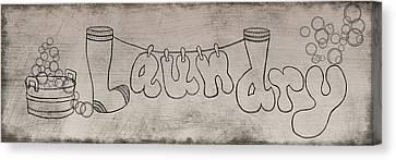 Laundry Canvas Print - Laundry Bubbles by Ramona Murdock