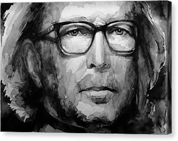 Eric Clapton B W Canvas Print by Laur Iduc
