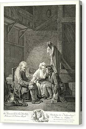 Old Car Canvas Print - Laurent Cars French, 1699-1771 After Jean-baptiste Greuze by Litz Collection