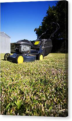 Lawn Mower Canvas Print by Jorgo Photography - Wall Art Gallery