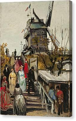 Le Moulin De Blute Fin Canvas Print by Vincent VAn Gogh
