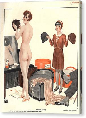 Le Sourire 1920s France Erotica Sales Canvas Print by The Advertising Archives