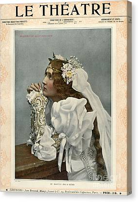 Le Theatre 1899 1890s France Magazines Canvas Print by The Advertising Archives
