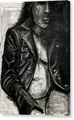 Leather Jacket Canvas Print by Gabrielle Wilson-Sealy