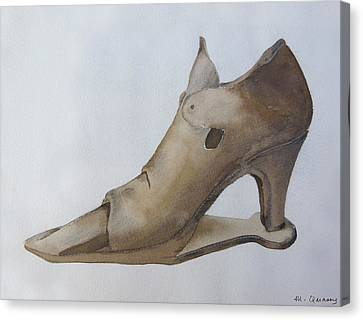 Leather Shoe - 16th Century Canvas Print by Mary Quarry