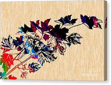 Leaves Painting Canvas Print by Marvin Blaine