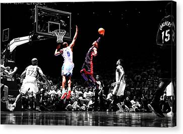 Lebron James Canvas Print by Brian Reaves