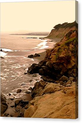 Leffingwell Landing Cambria Digital Painting Canvas Print by Barbara Snyder