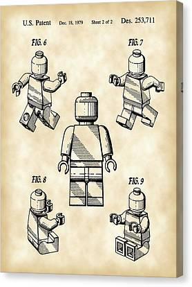Lego Figure Patent 1979 - Vintage Canvas Print by Stephen Younts