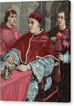 Leo X (1475-1521 Canvas Print