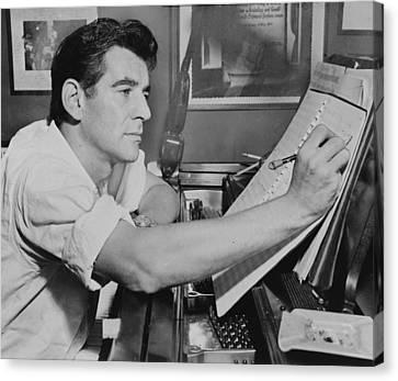 Leonard Bernstein Canvas Print by Mountain Dreams