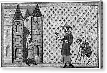 Leper House, C1220-1244 Canvas Print by Granger