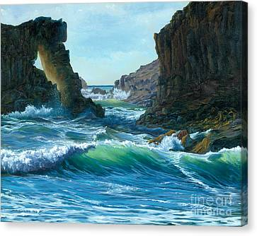 Letting The Ocean In Canvas Print by Jeanette French