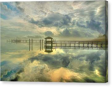 Levitating Dock Canvas Print by Ed Roberts