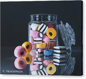 Licorice Canvas Print - Licorice Allsorts By K Henderson by K Henderson