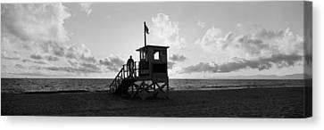 Sea And Sky Canvas Print - Lifeguard Hut On The Beach, 22nd St by Panoramic Images