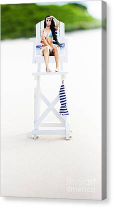 Lifeguard Canvas Print by Jorgo Photography - Wall Art Gallery
