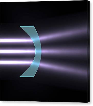 Light Refraction With Concave-convex Lens Canvas Print by Russell Kightley