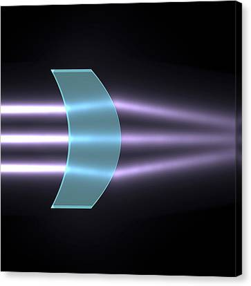 Light Refraction With Convex-concave Lens Canvas Print by Russell Kightley