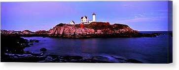 Lighthouse At A Coast, Nubble Canvas Print