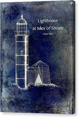 Lighthouse At Isles Of Shoals Canvas Print by Jon Neidert