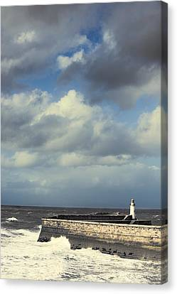 Lighthouse At Whitehaven Canvas Print by Amanda Elwell