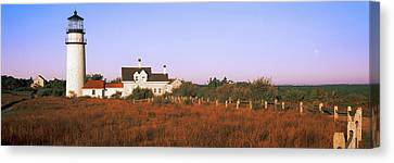 Lighthouse In The Field, Highland Canvas Print