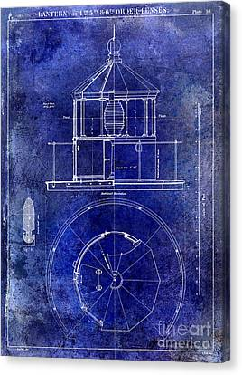 Lighthouse Lantern Lense Order Blueprint  Canvas Print