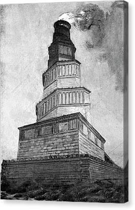 Lighthouse Of Alexandria Canvas Print