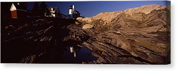 Lighthouse On The Coast, Pemaquid Point Canvas Print by Panoramic Images