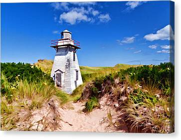 Lighthouse On The Dunes Canvas Print by Dan Dooley