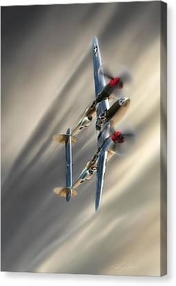 Vintage Aircraft Canvas Print - Lightning Speed by Peter Chilelli