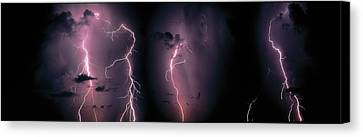 Lightning, Thunderstorm, Weather, Sky Canvas Print