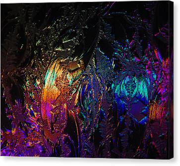 Lights Behind Frosted Glass Canvas Print