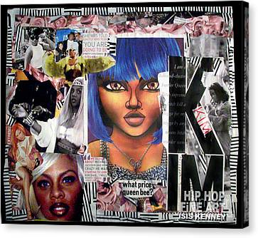 Lil Kim The Making Of A Queen Bee Canvas Print by Isis Kenney