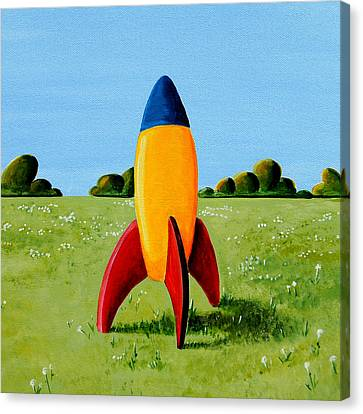 Lil Rocket Canvas Print by Cindy Thornton