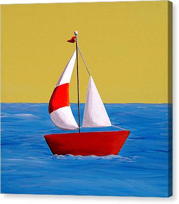 Lil Sailboat Canvas Print by Cindy Thornton