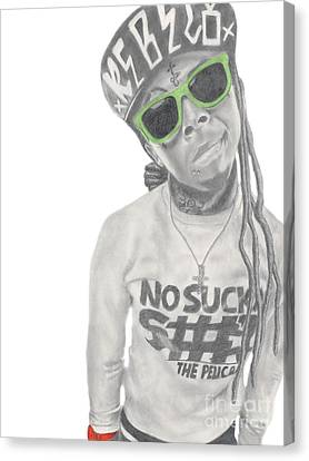 Lil Wayne Canvas Print by Michael Durocher