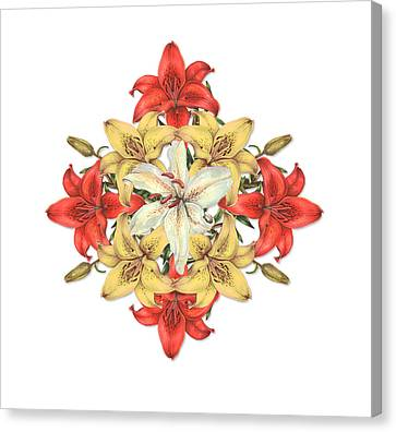 Lily Cluster Canvas Print