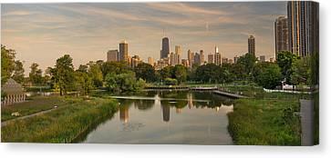 Lincoln Park Lagoon Canvas Print - Lincoln Park Lagoon Chicago by Steve Gadomski