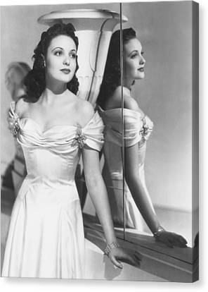 Linda Darnell, Early 1940s Canvas Print by Everett